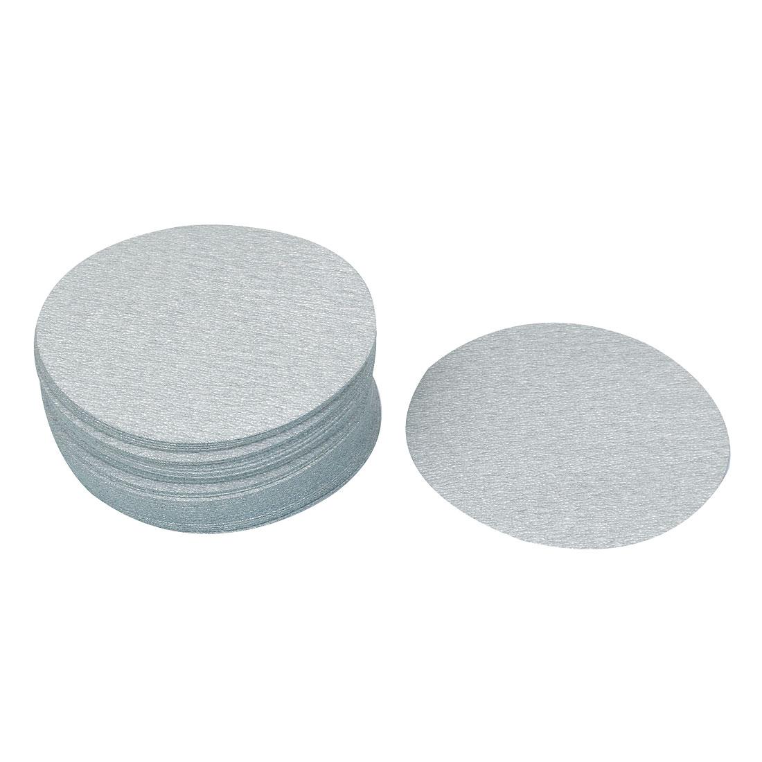 "5"" Dia Polishing Round Dry Abrasive Sanding Sandpaper Sheet Disc 400 Grit 50pcs"