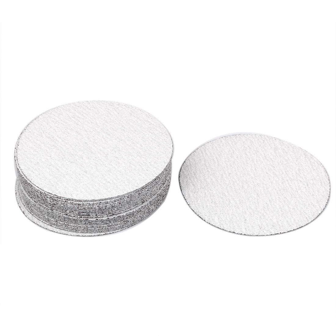 "5"" Dia Polishing Round Dry Abrasive Sanding Sandpaper Sheet Disc 80 Grit 30 Pcs"