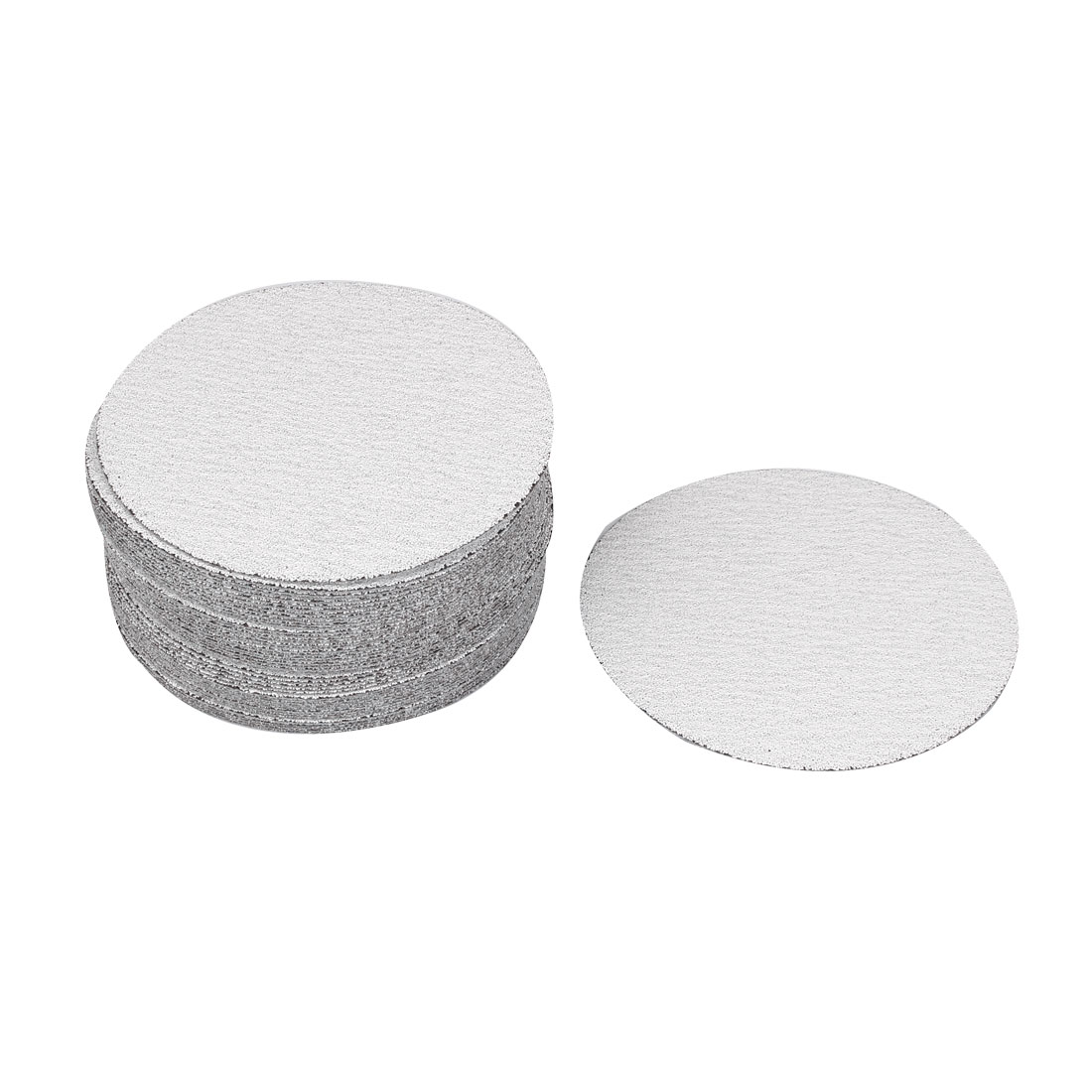 "5"" Dia Polishing Round Dry Abrasive Sanding Sandpaper Sheet Disc 80 Grit 50 Pcs"
