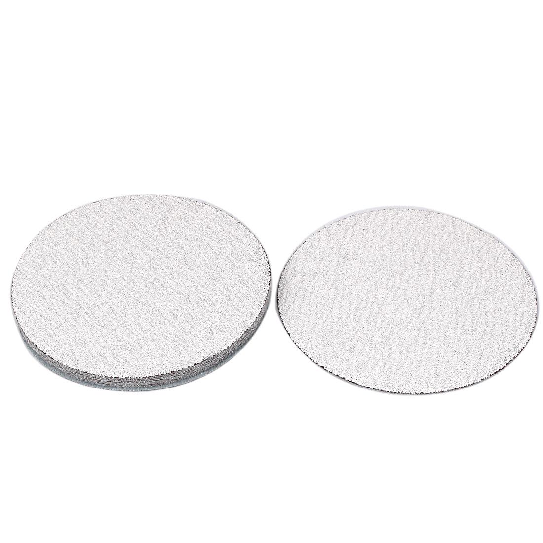 "5"" Dia Polishing Round Dry Abrasive Sanding Sandpaper Sheet Disc 80 Grit 10pcs"