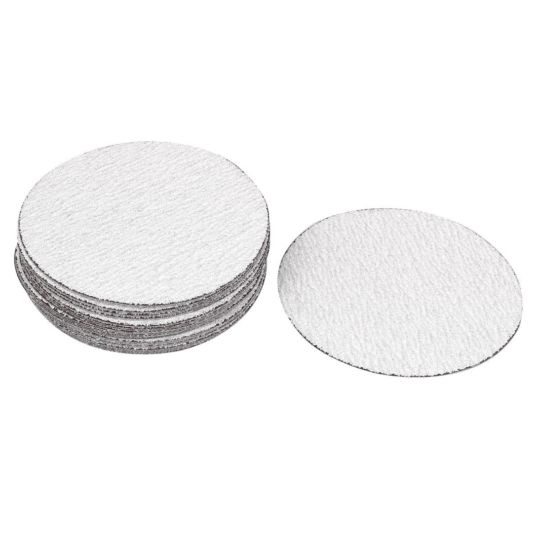 "5"" Dia Round Dry Abrasive Sanding Sandpaper Sheet Disc 120 Grit 30 Pcs"