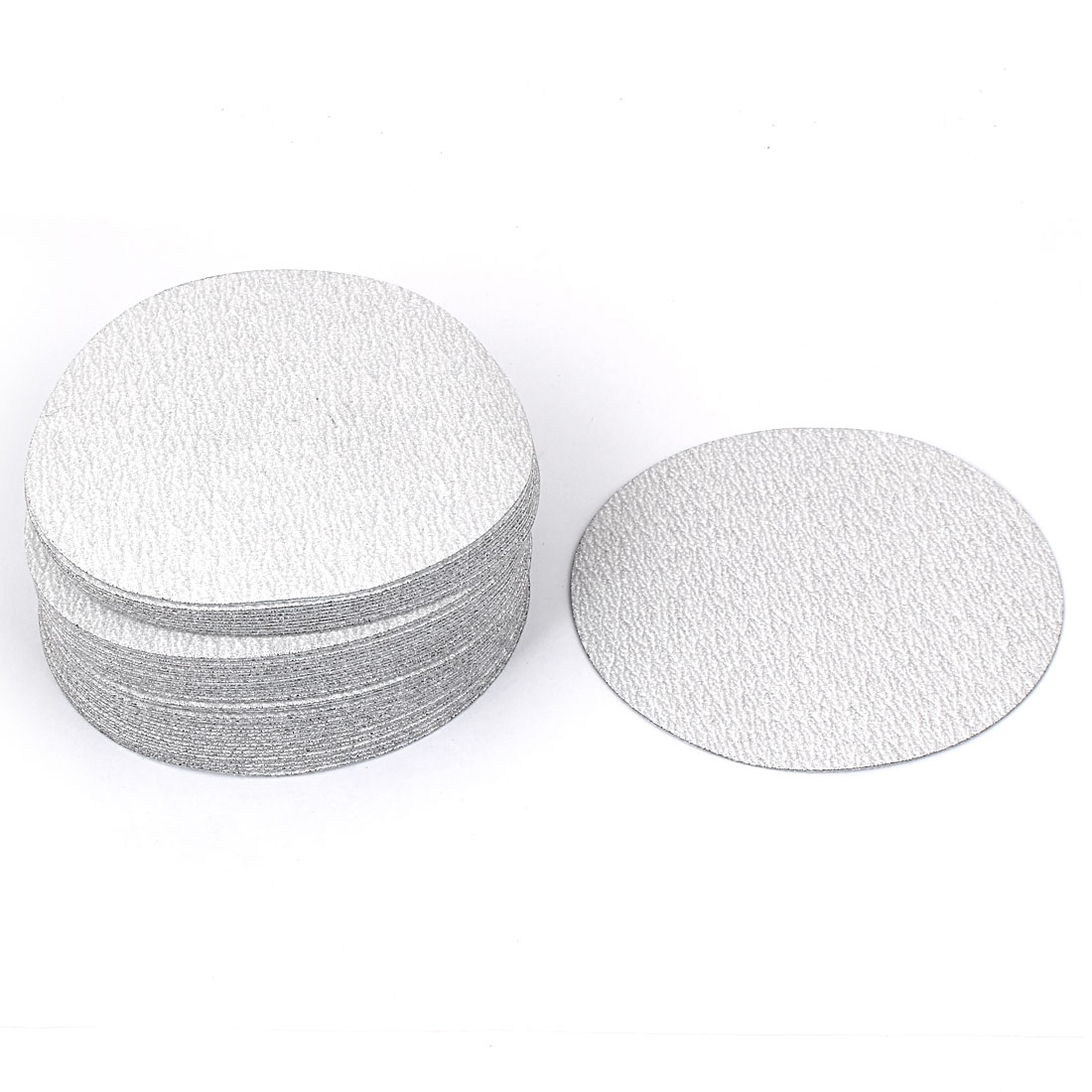 "5"" Dia Polishing Round Dry Abrasive Sanding Sandpaper Sheet Disc 240 Grit 50pcs"