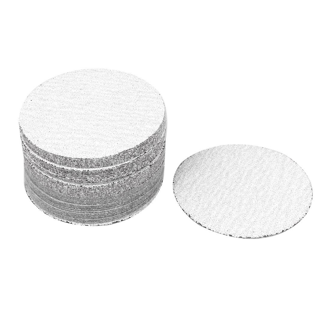 "4"" Dia Polishing Round Dry Abrasive Sanding Sandpaper Sheet Disc 60 Grit 50pcs"