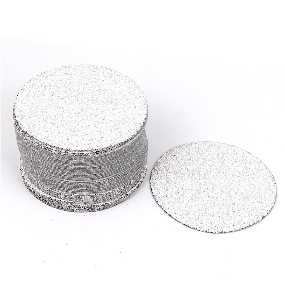 "4"" Dia Polishing Round Dry Abrasive Sanding Sandpaper Sheet Disc 80 Grit 50pcs"
