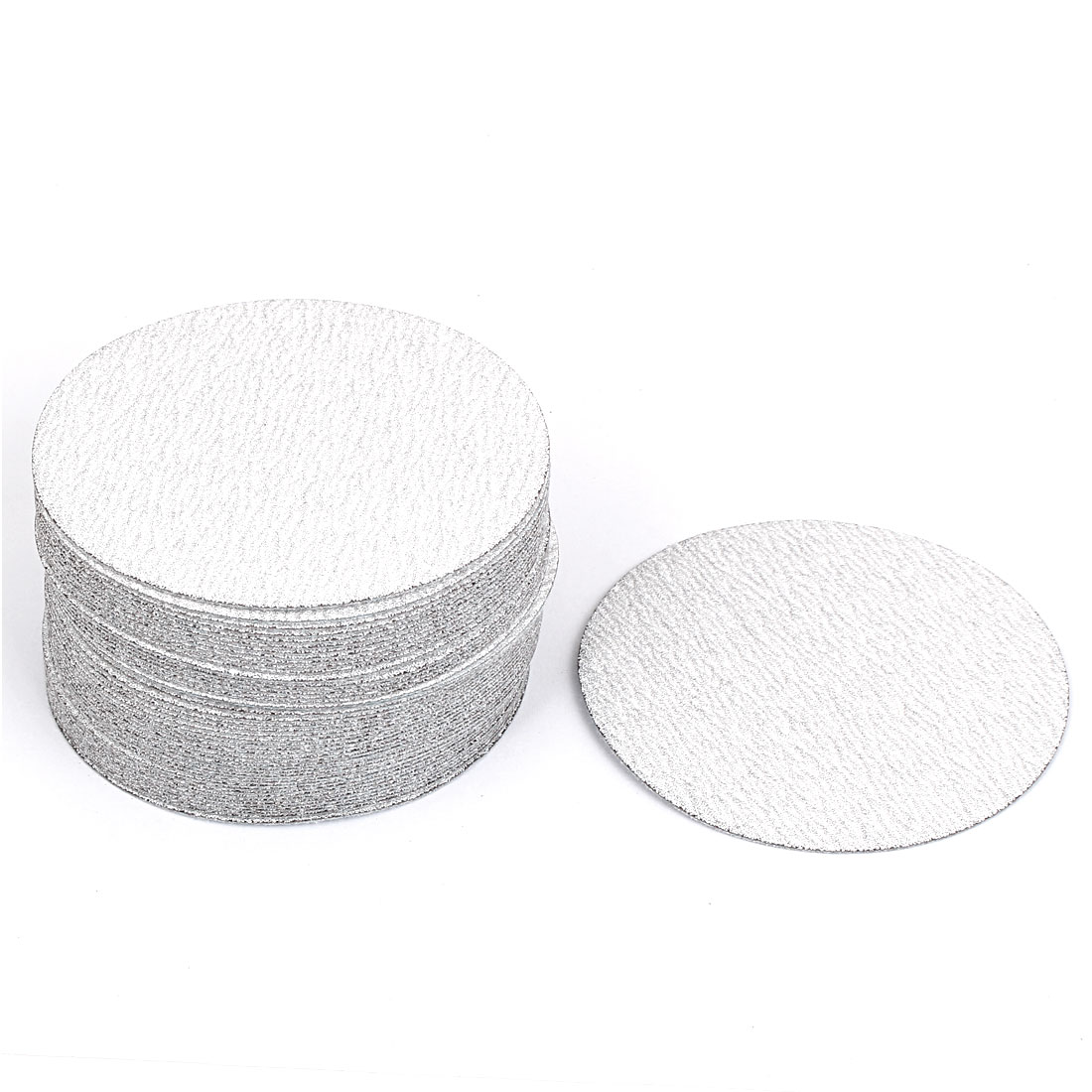 "4"" Dia Polishing Dry Abrasive Sanding Sandpaper Sheet Disc 180 Grit 50 Pcs"