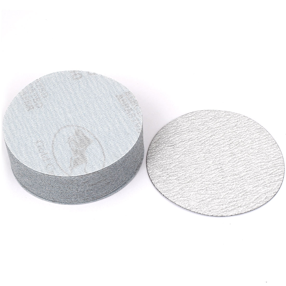 "4"" Dia Polishing Round Dry Abrasive Sanding Sandpaper Sheet Disc 240 Grit 30 Pcs"
