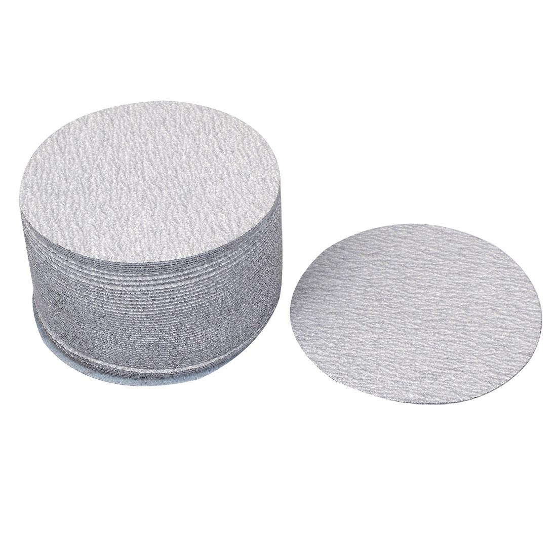 "4"" Dia Polishing Round Dry Abrasive Sanding Sandpaper Sheet Disc 240 Grit 50pcs"