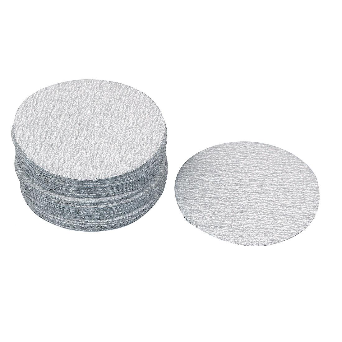 "3"" Dia Polishing Round Dry Abrasive Sanding Sandpaper Sheet Disc 320 Grit 30pcs"