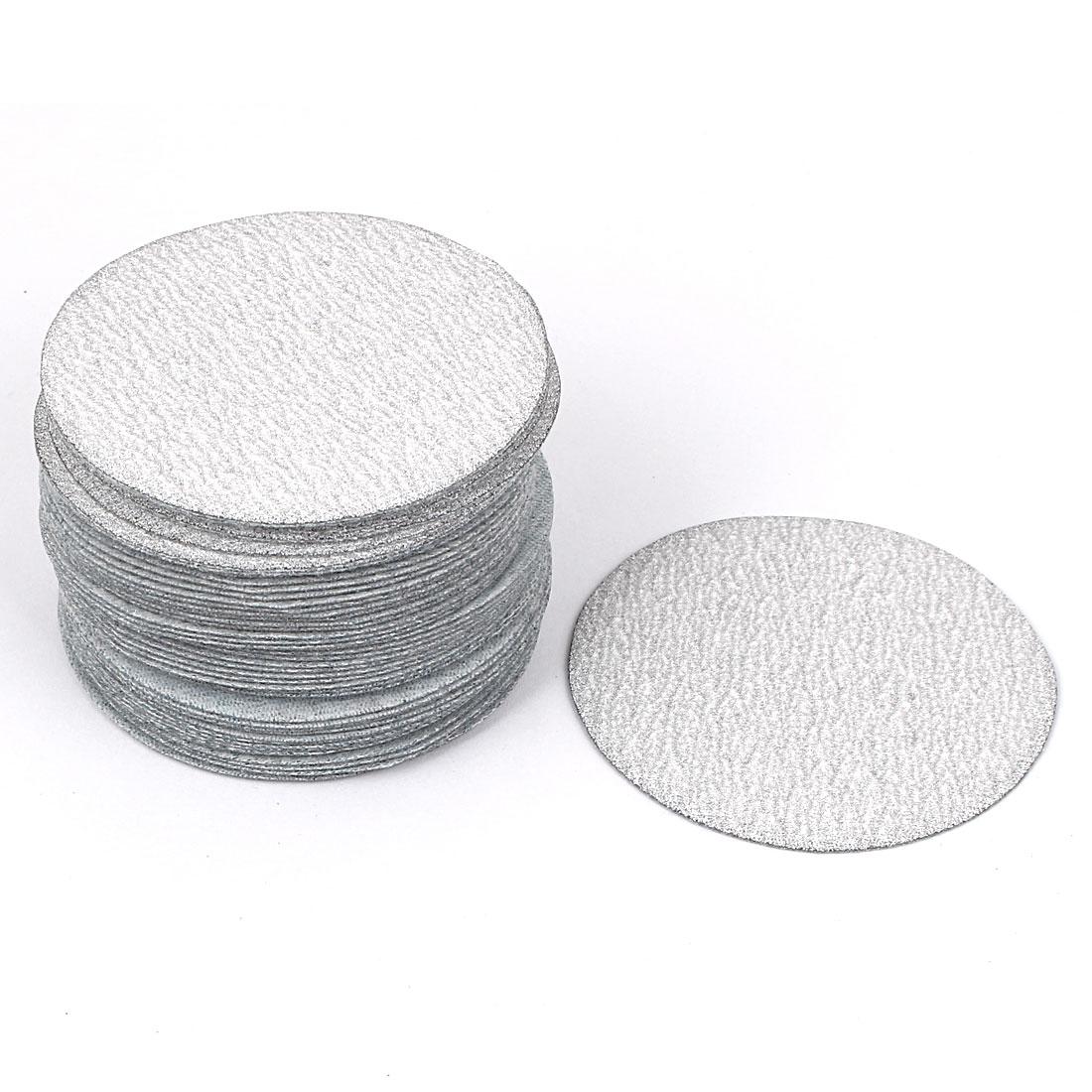 "3"" Dia Polishing Round Dry Abrasive Sanding Sandpaper Sheet Disc 240 Grit 50pcs"