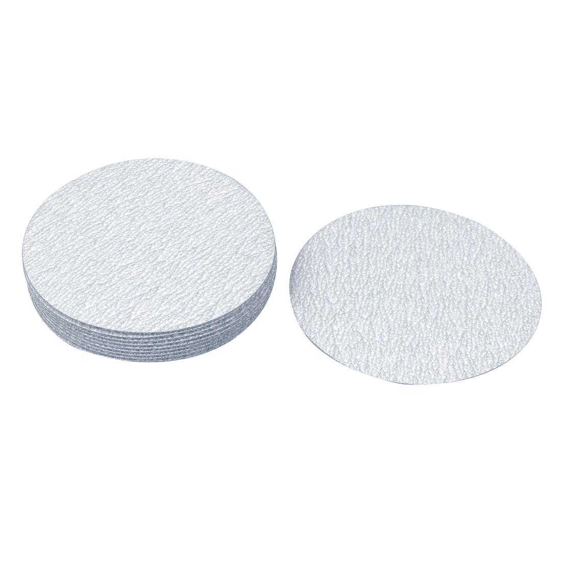 "3"" Dia Polishing Round Dry Abrasive Sanding Sandpaper Sheet Disc 400 Grit 10 Pcs"