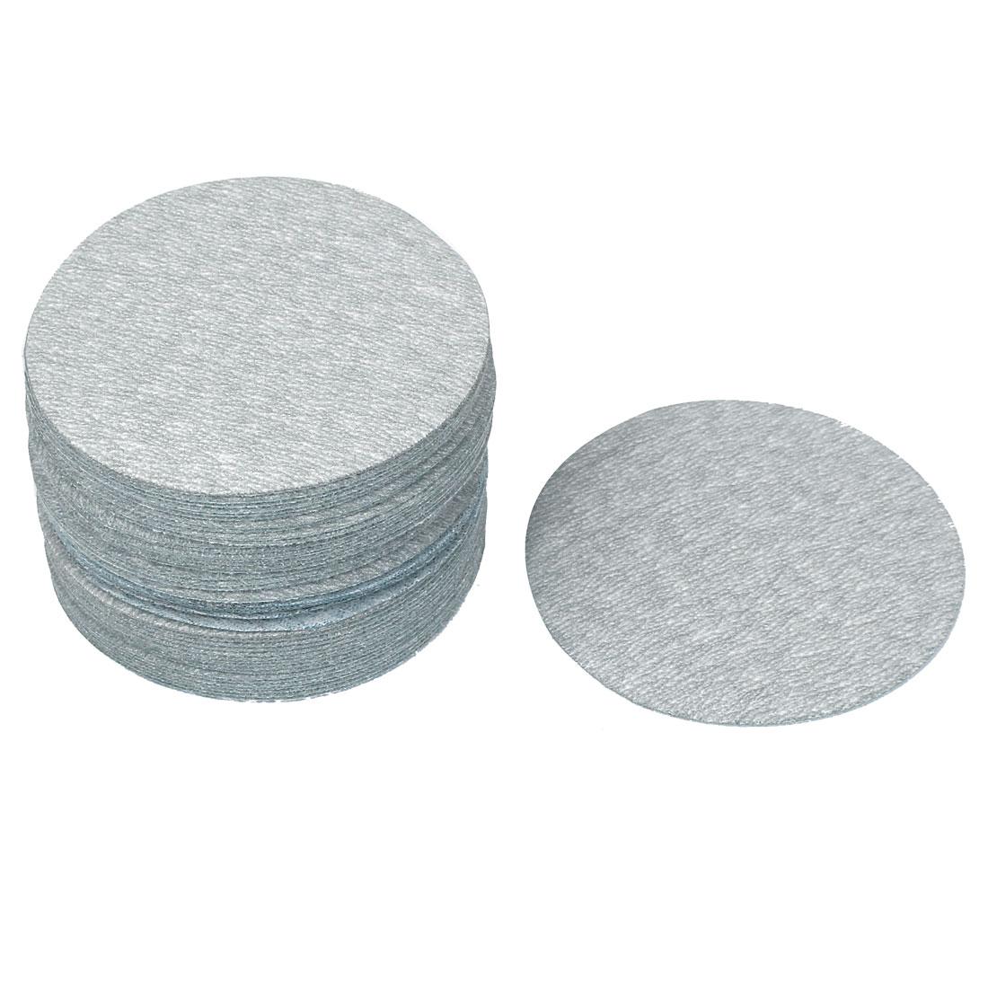 "3"" Dia Polishing Round Dry Abrasive Sanding Sandpaper Sheet Disc 600 Grit 50pcs"