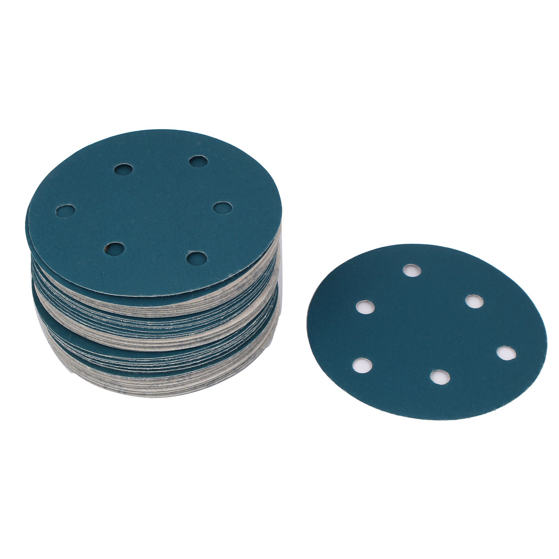 "5"" Sandpaper Auto Car Paint Polishing Sanding Disc Hook and Loop Fastener 6 Holes 600 Grit 50pcs"