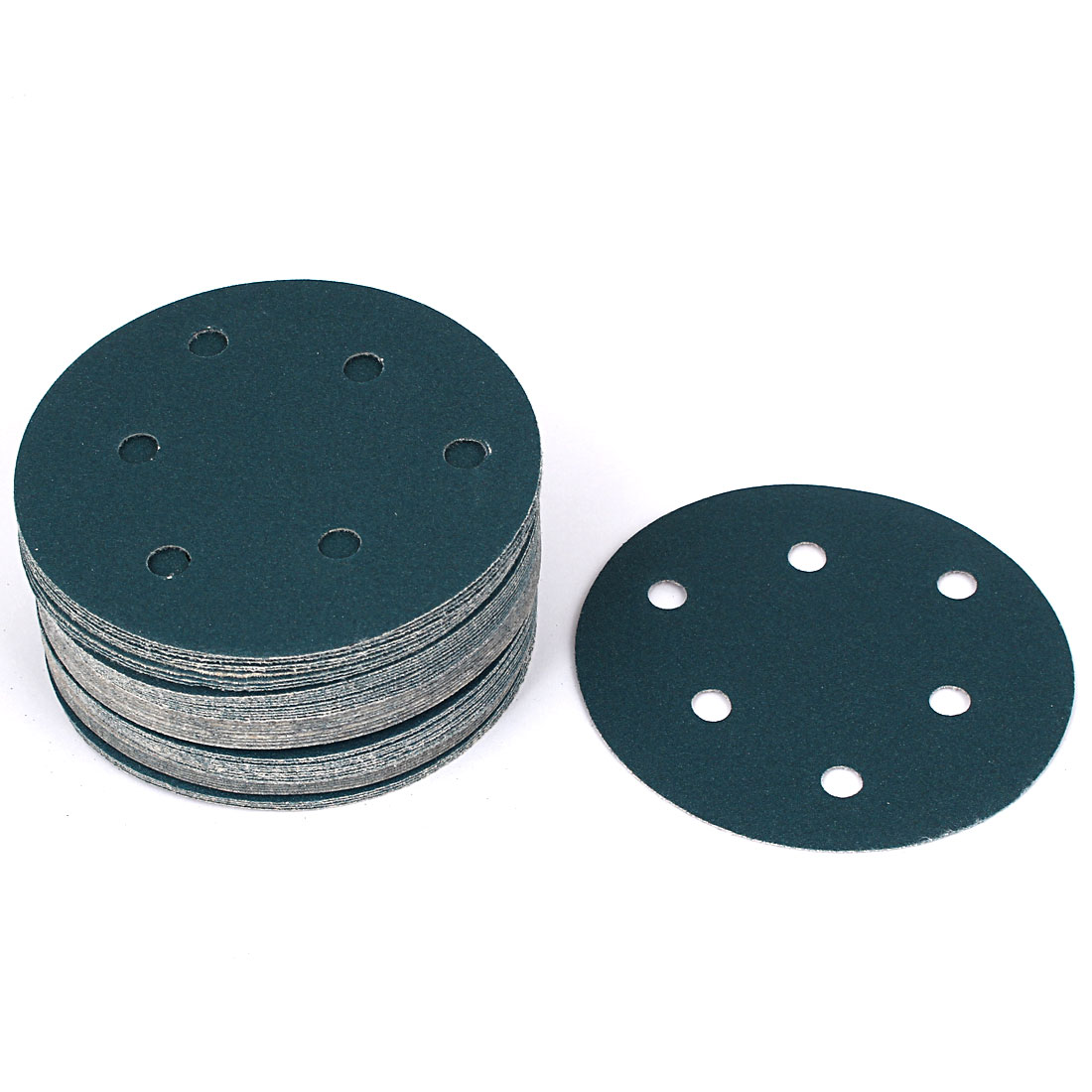 "5"" Sandpaper Auto Car Paint Polishing Sanding Disc Hook and Loop Fastener 6 Holes 120 Grit 50pcs"