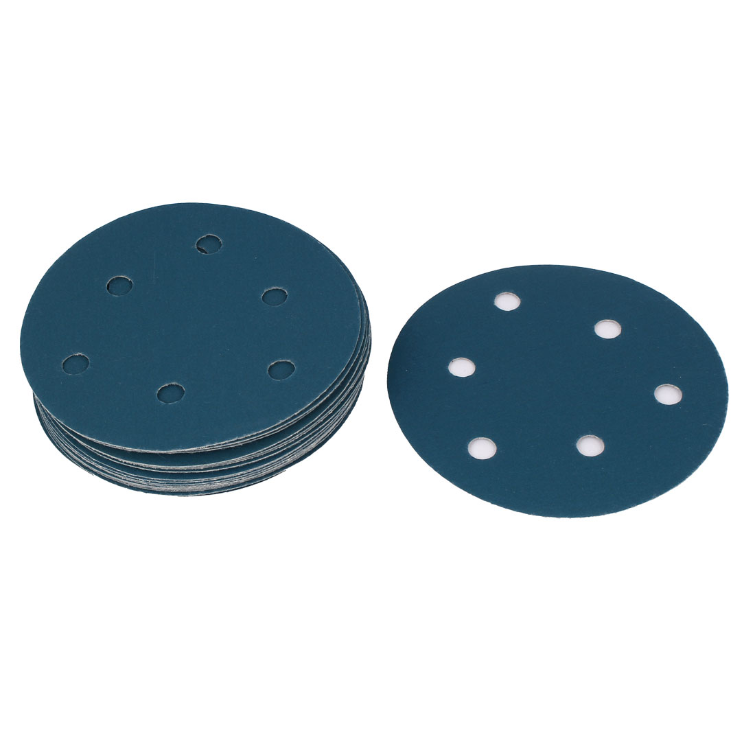 "5"" Sandpaper Auto Car Paint Polishing Sanding Disc Hook and Loop Fastener 6 Holes 600 Grit 20pcs"