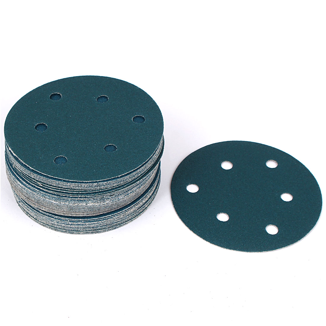 "5"" Sandpaper Auto Car Paint Polishing Sanding Disc Vlcro 6 Holes 80 Grit 50pcs"