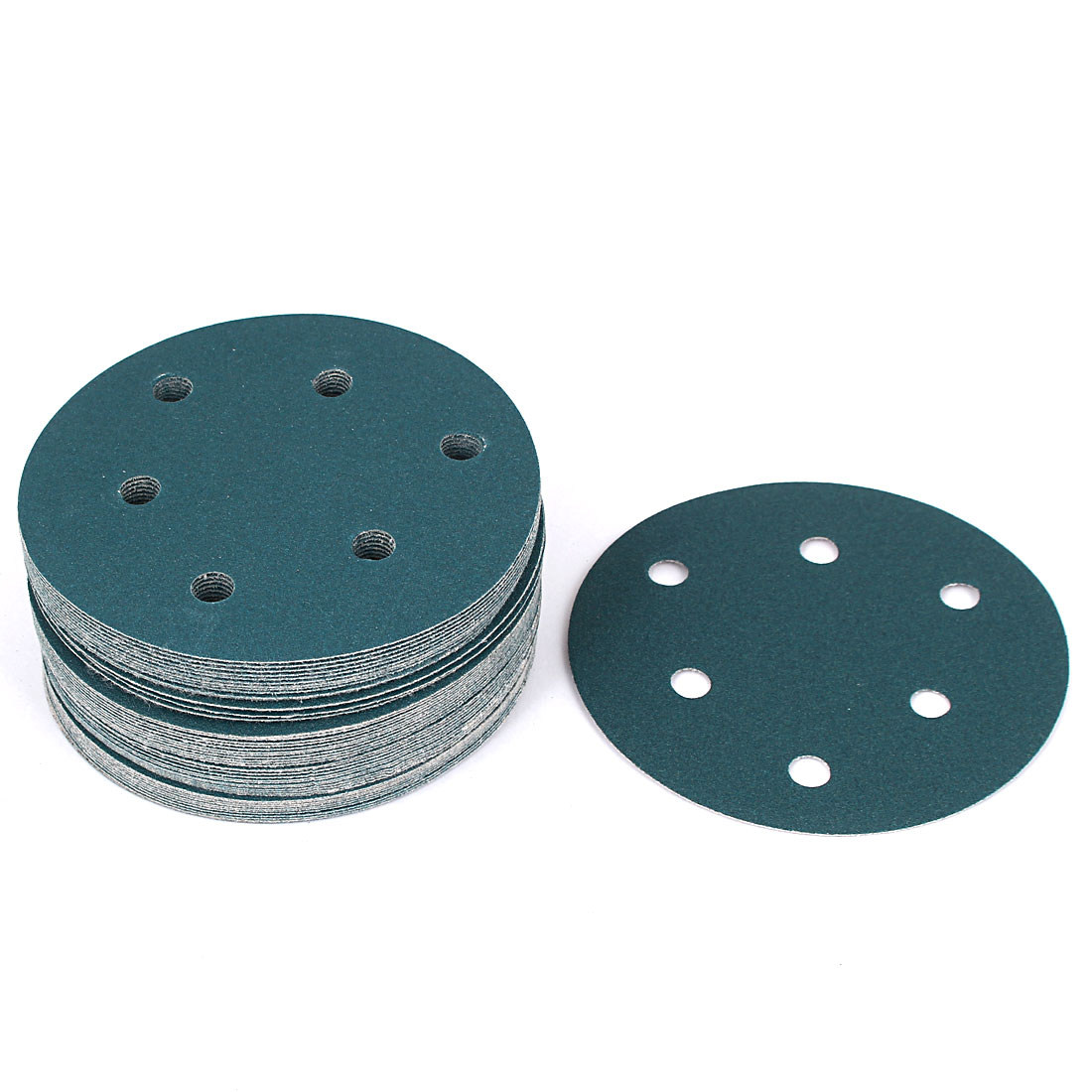 "5"" Sandpaper Auto Car Paint Polishing Sanding Disc Vlcro 6 Holes 150 Grit 50pcs"