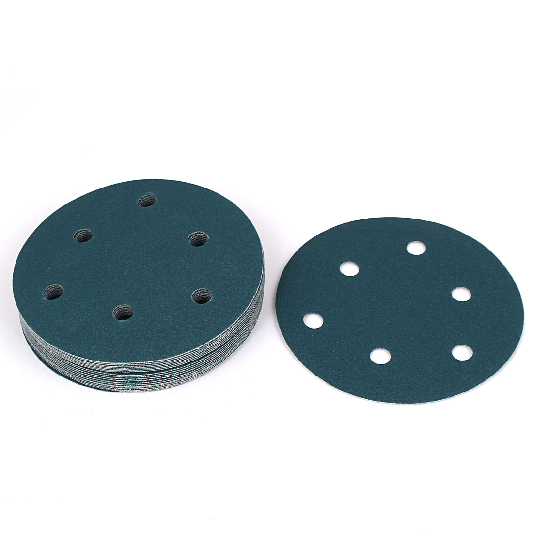 """5"""" Sandpaper Auto Car Paint Polishing Sanding Disc Vlcro 6 Holes 150 Grit 20pcs"""