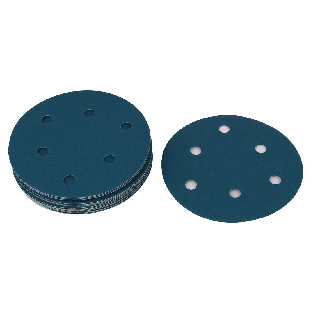 "5"" Sandpaper Auto Car Paint Polishing Sanding Disc Hook and Loop Fastener 6 Holes 320 Grit 20pcs"
