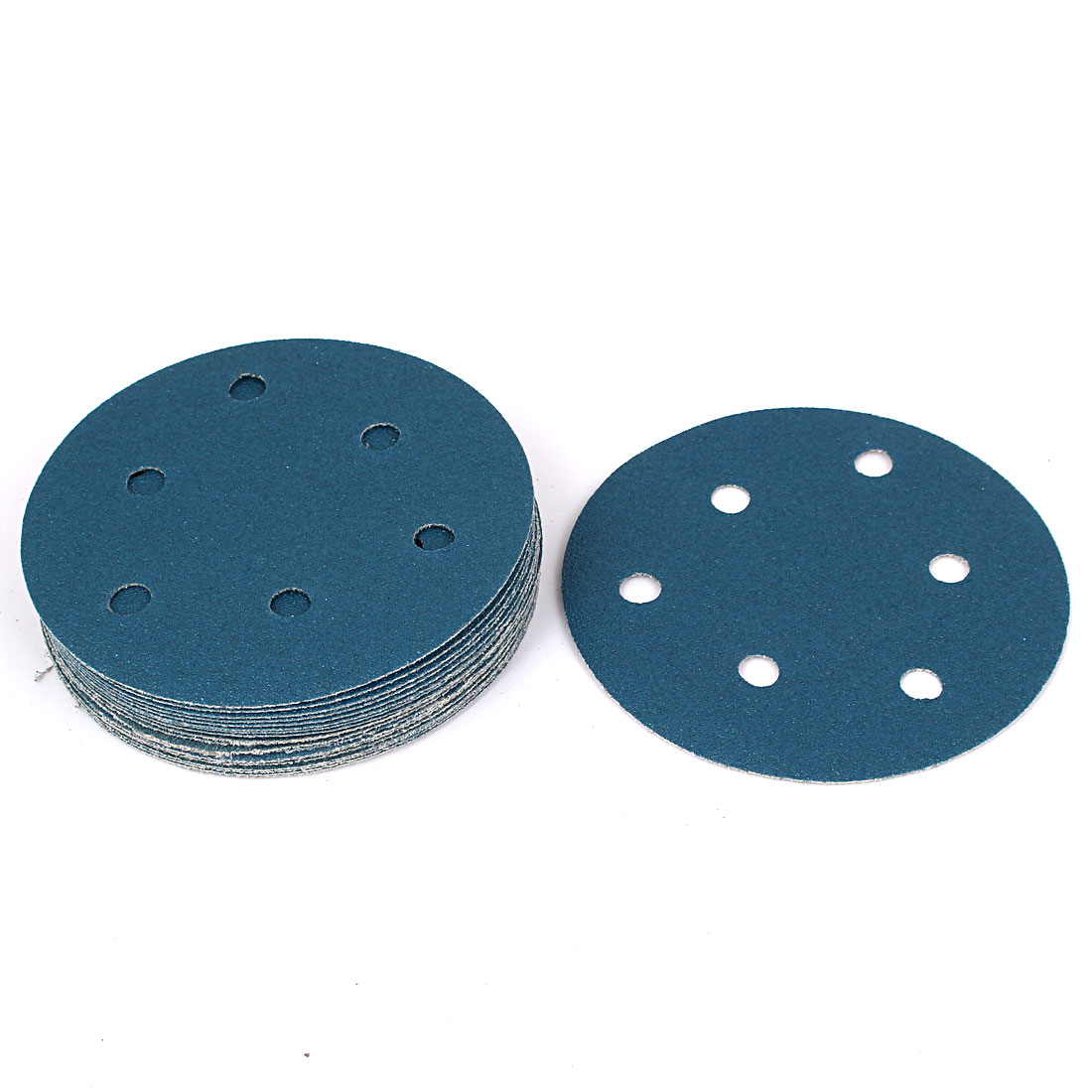 """5"""" Sandpaper Auto Car Paint Polishing Sanding Disc Vlcro 6 Holes 80 Grit 20pcs"""