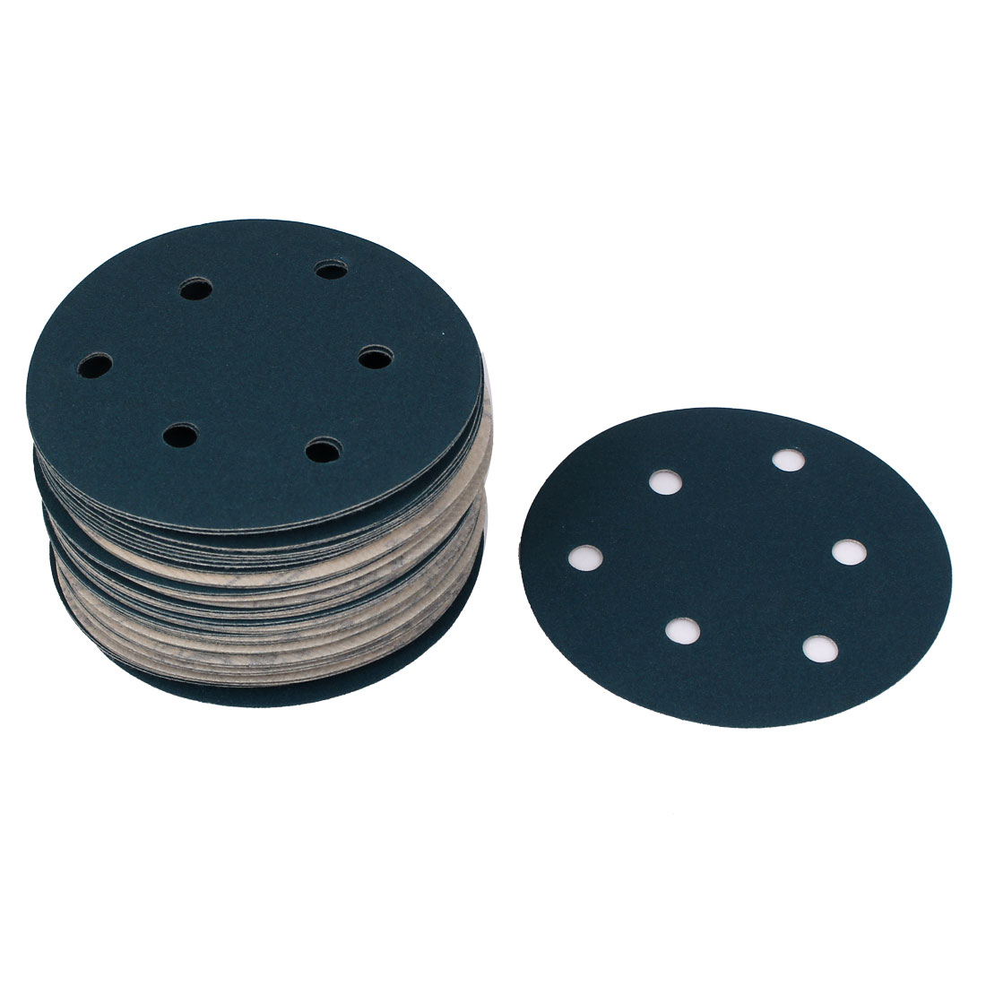 "5"" Sandpaper Auto Car Paint Polishing Sanding Disc Hook and Loop Fastener 6 Holes 240 Grit 50pcs"
