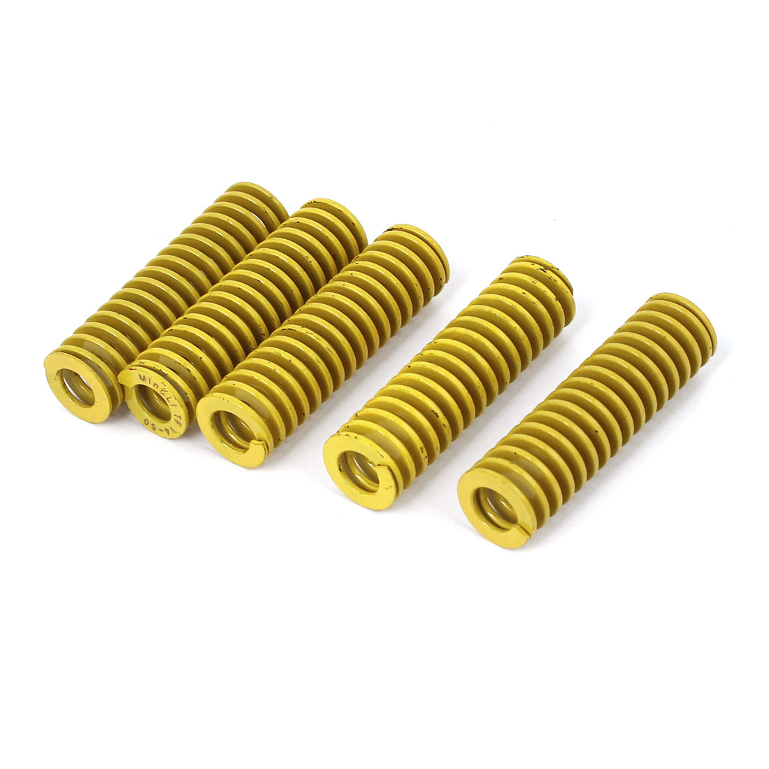 14mm x 50mm Tubular Section Mold Mould Die Spring Yellow 5 Pcs