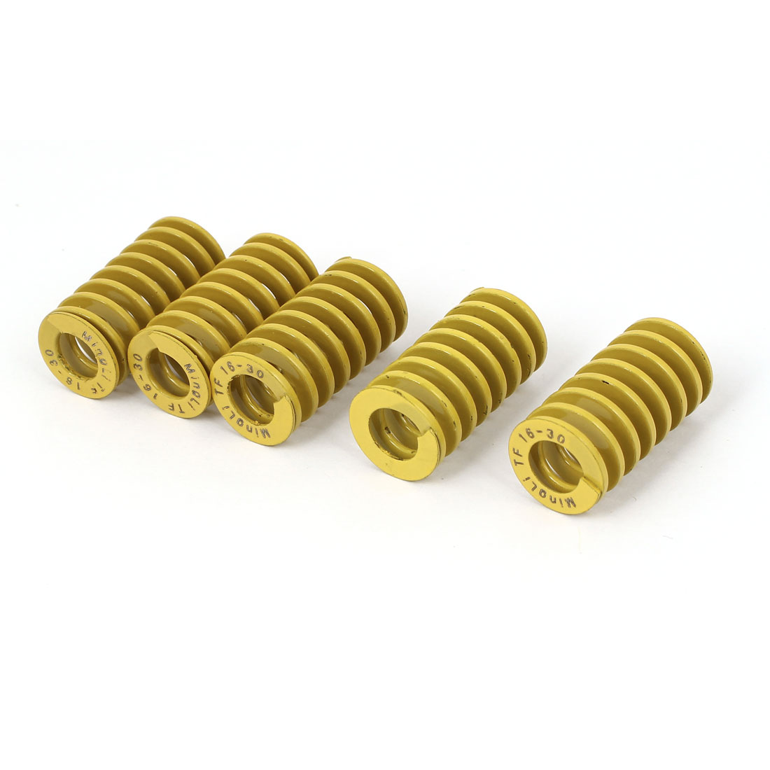 16mm x 30mm Metal Tubular Section Mould Die Compression Spring 5 Pcs