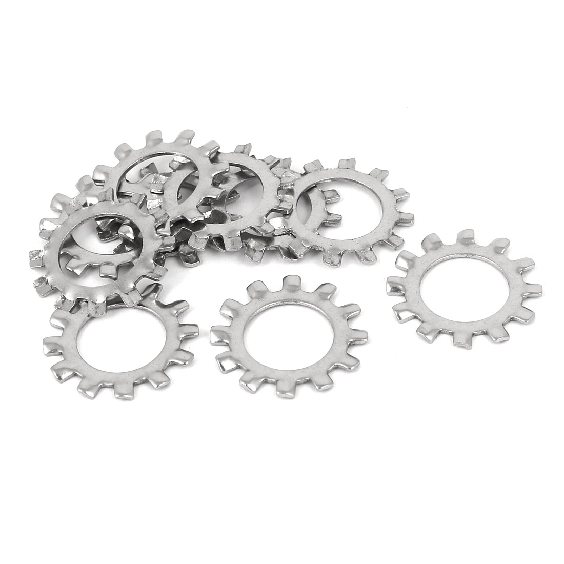 M12 304 Stainless Steel External Star Lock Washers 10 Pcs