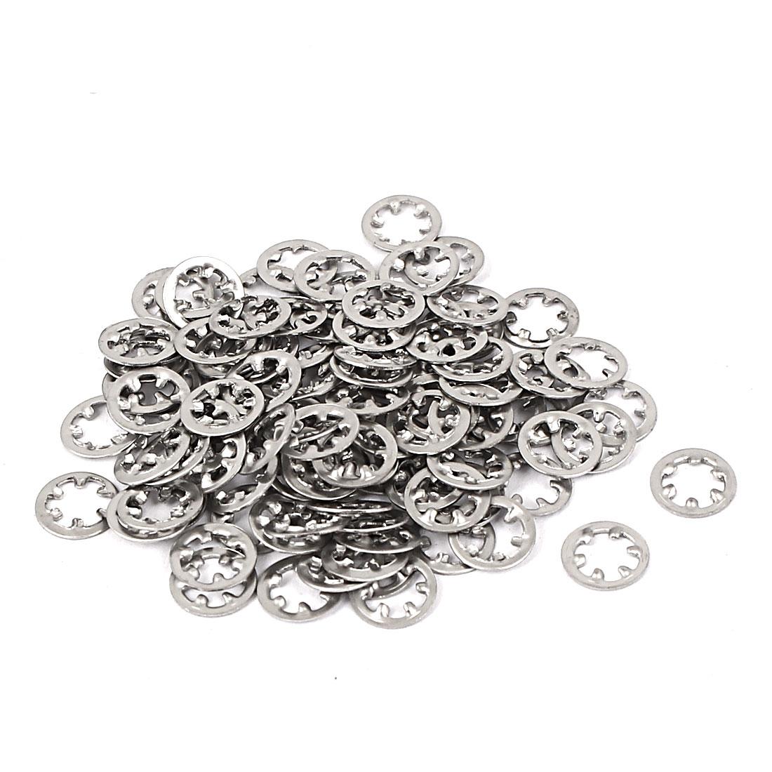 M3 304 Stainless Steel Internal Star Lock Washers 100 Pcs