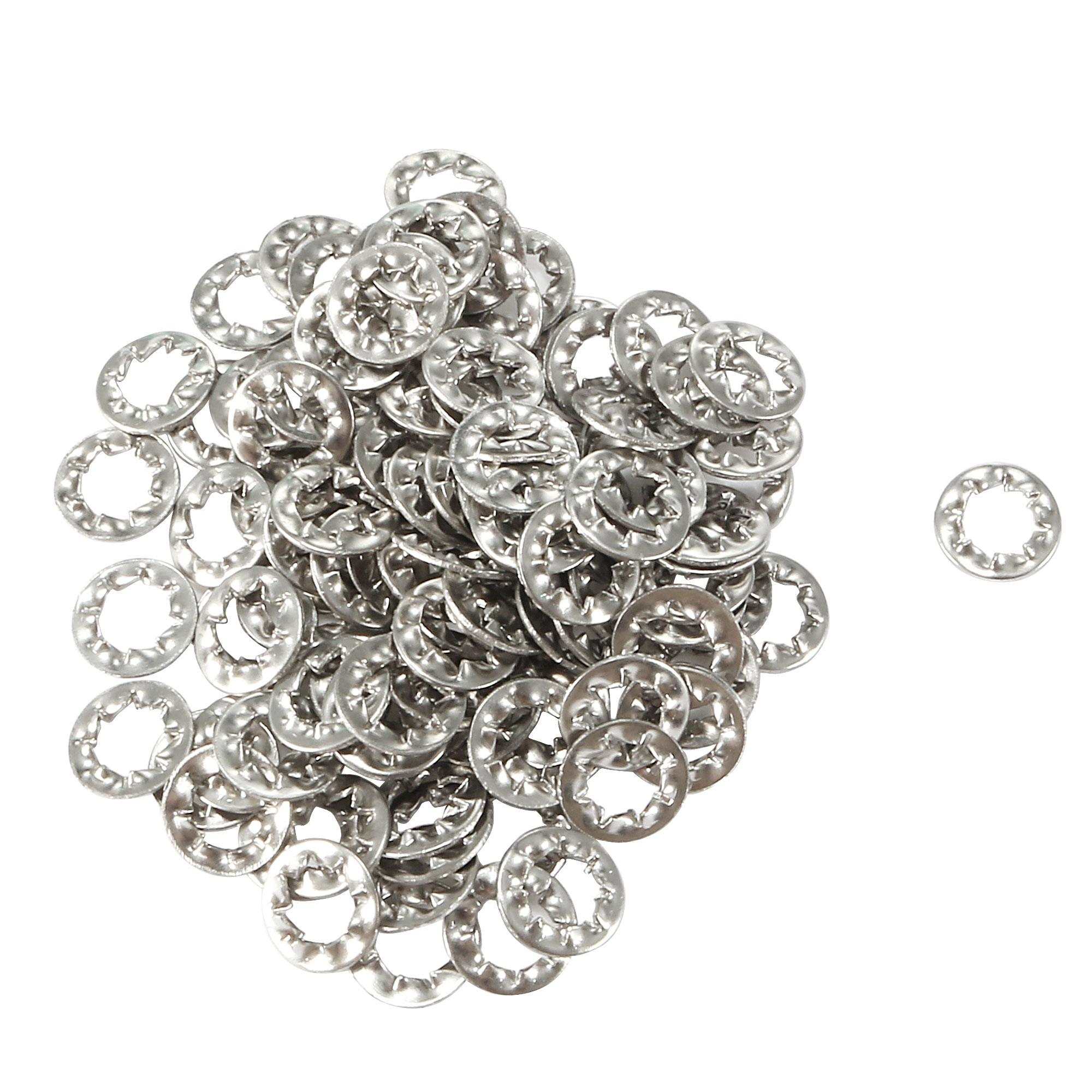 M5 304 Stainless Steel Internal Star Lock Washers 100 Pcs