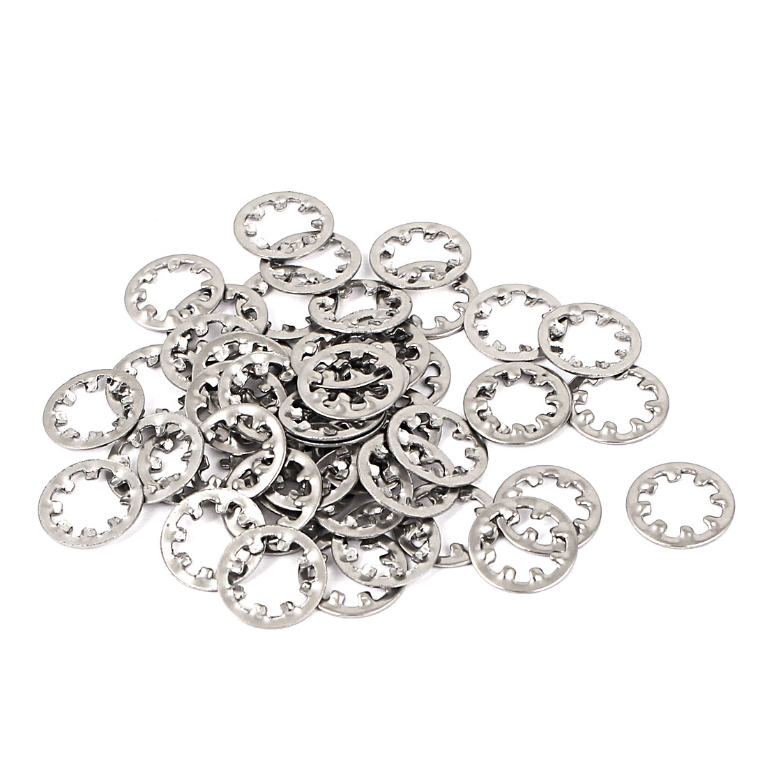M6 304 Stainless Steel Internal Star Lock Washers 50 Pcs