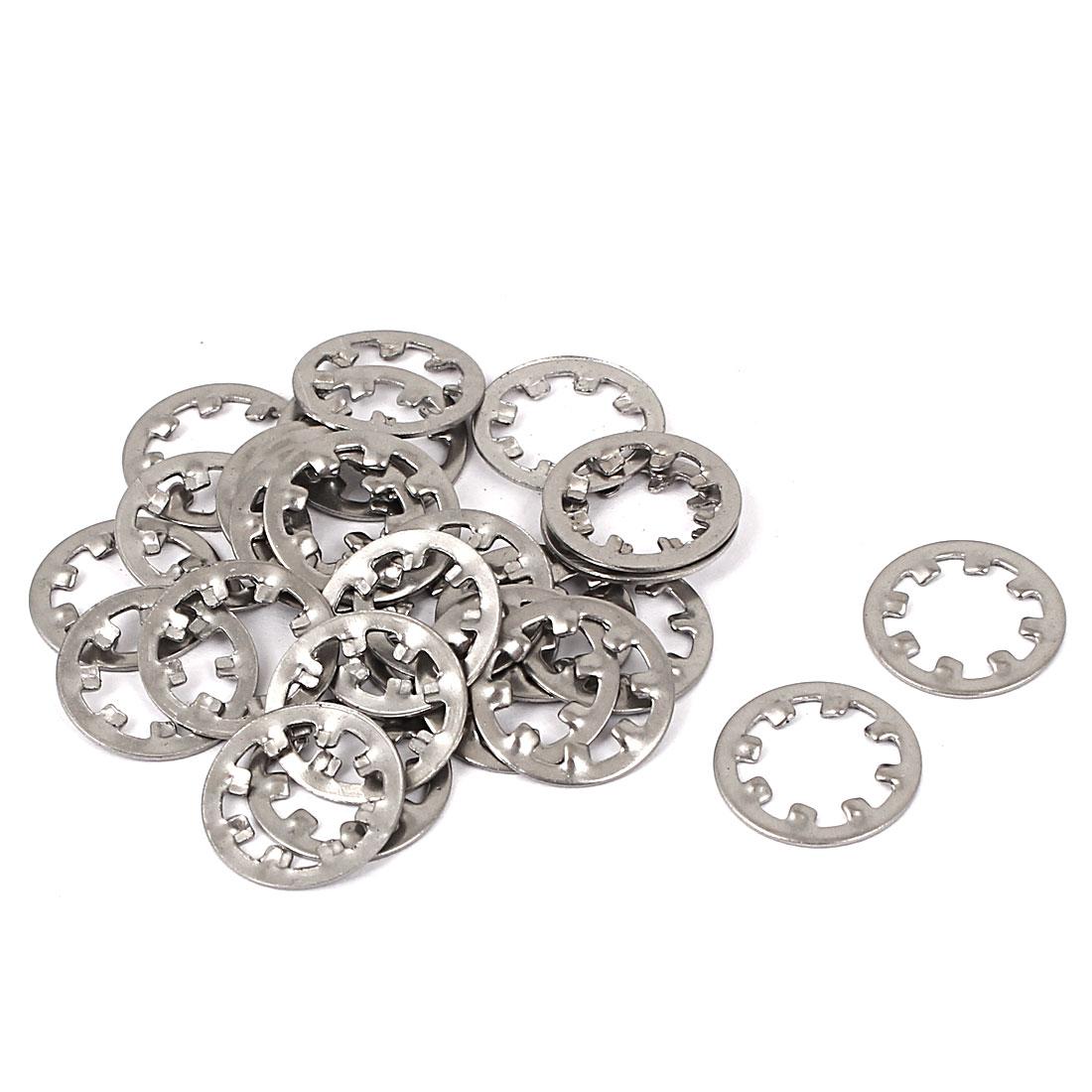 M8 304 Stainless Steel Internal Star Lock Washers 25 Pcs