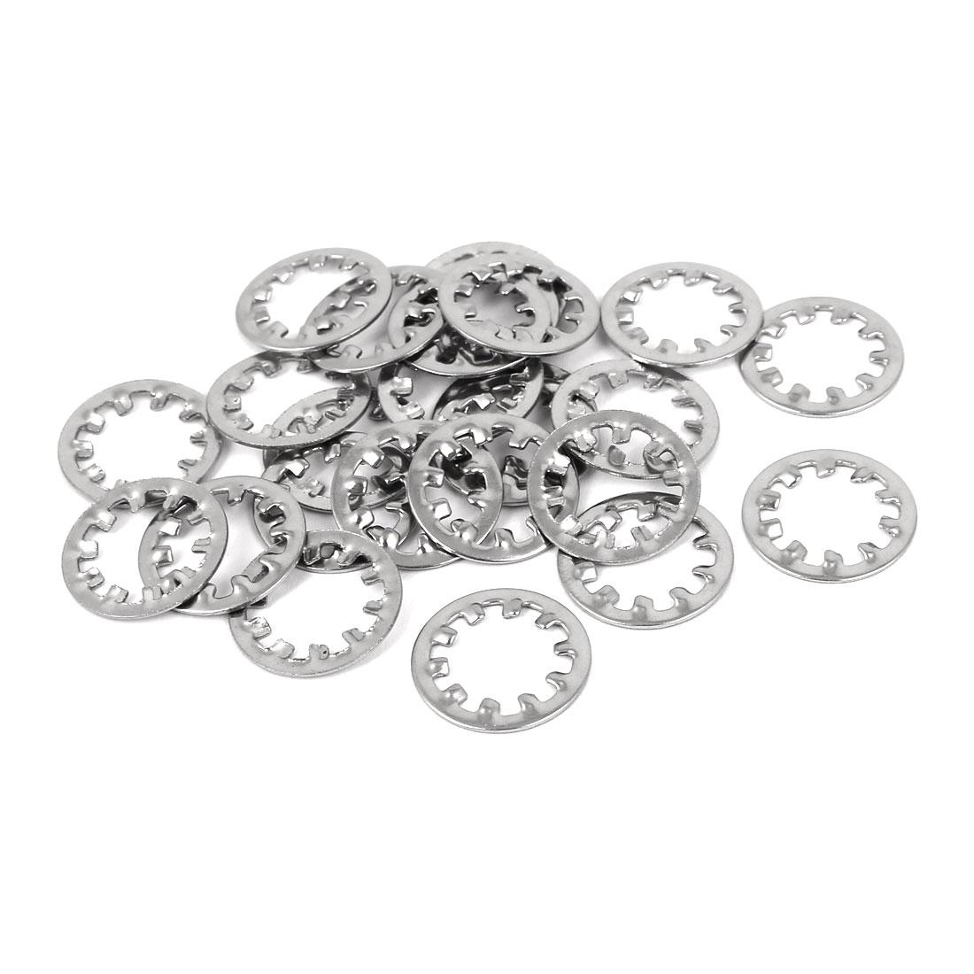 M10 304 Stainless Steel Internal Star Lock Washers 25 Pcs