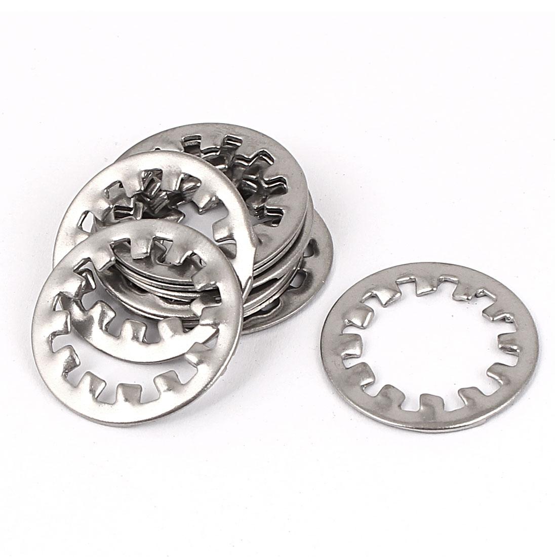 M16 304 Stainless Steel Internal Star Lock Washers 10 Pcs