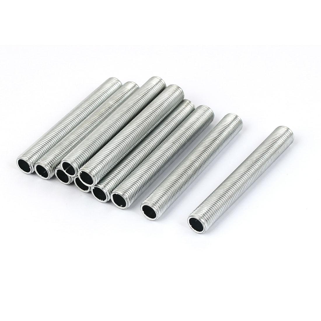 M10 1mm Pitch Threaded Zinc Alloy Pipe Nipple Lamp Repair Part 70mm Long 10pcs