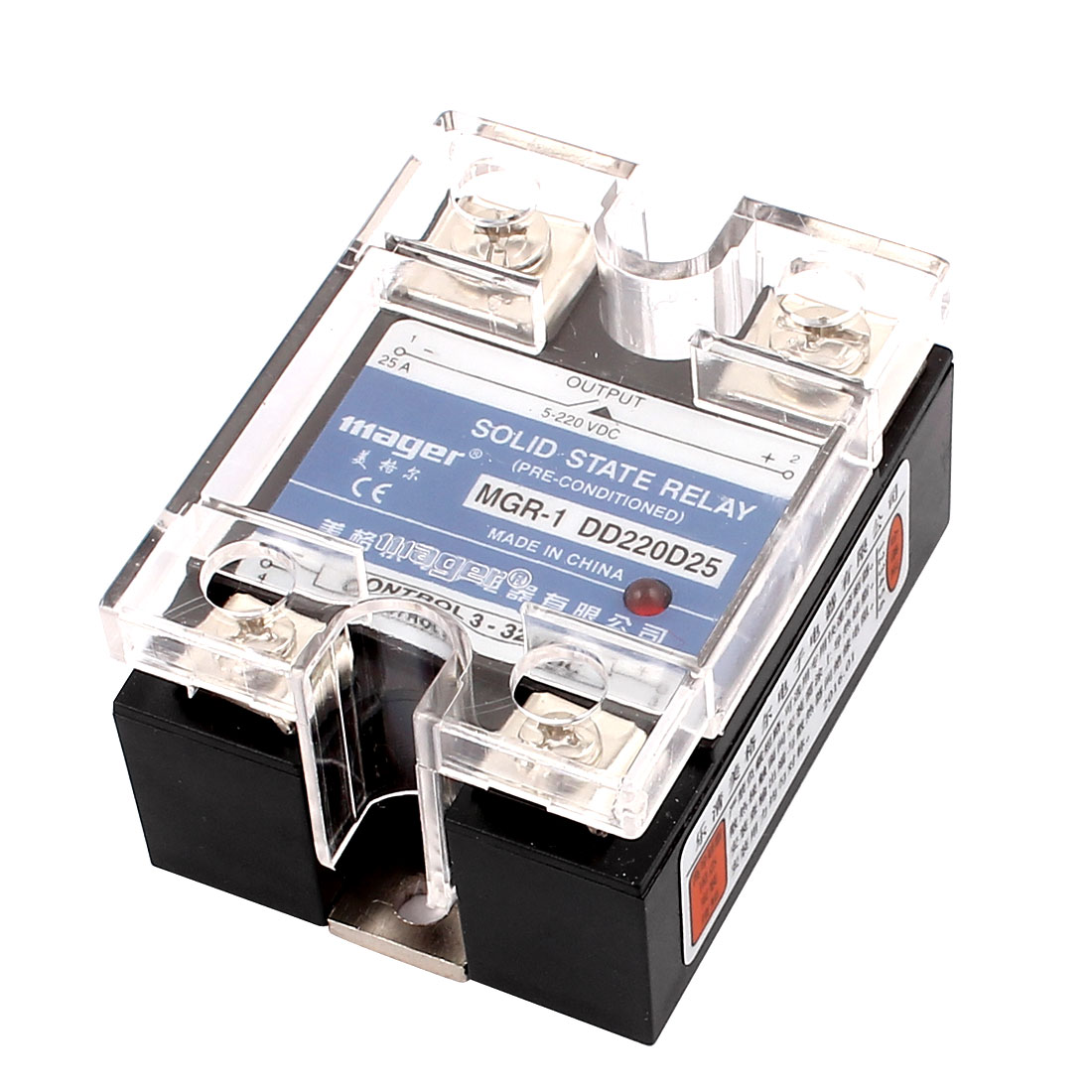 Solid State Relay Module MGR-1 DD220D25 DC-DC 3-32VDC to 5-220VDC