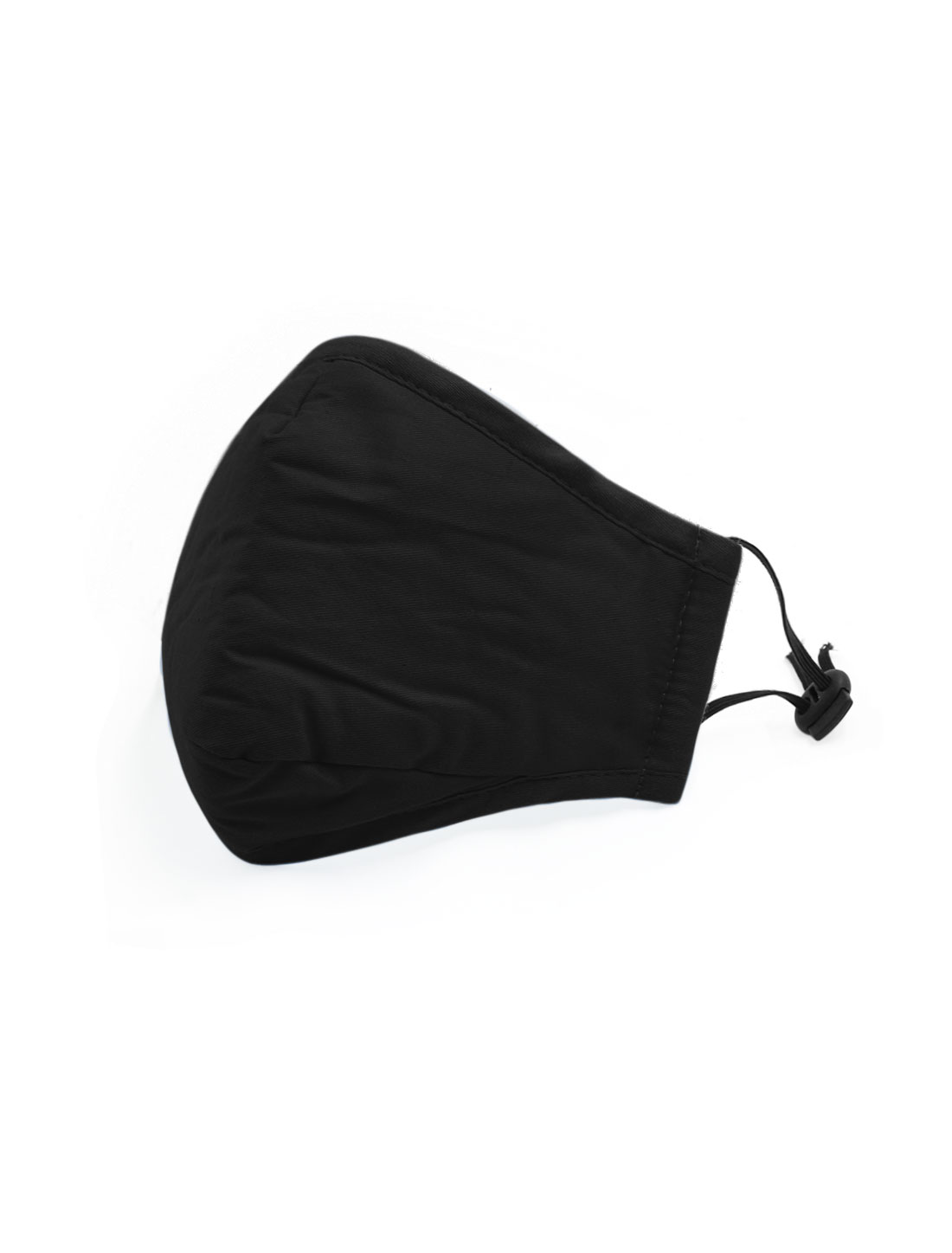 Unisex Anti-dust Face Mask w Activated Carbon Filter Black