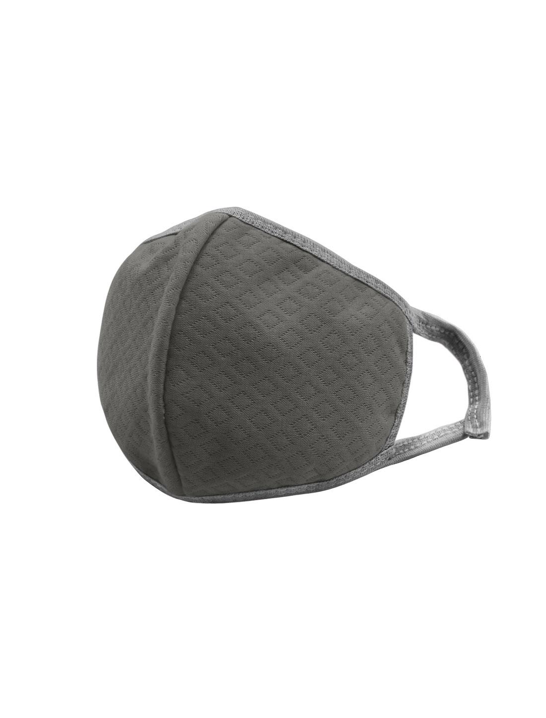 Unisex Elastic Earloops Argyle Design Anti-dust Mouth Mask Gray