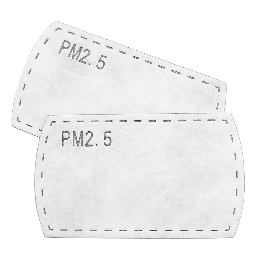 Unisex Anti-dust Replacement Activated Carbon Mask Filter 10 Packs White