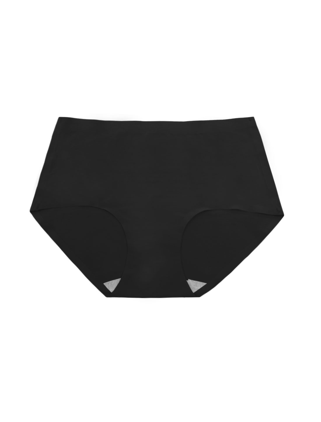 Women Mid Rise Elastic Waist Seamless Stretchy Panty Black XS