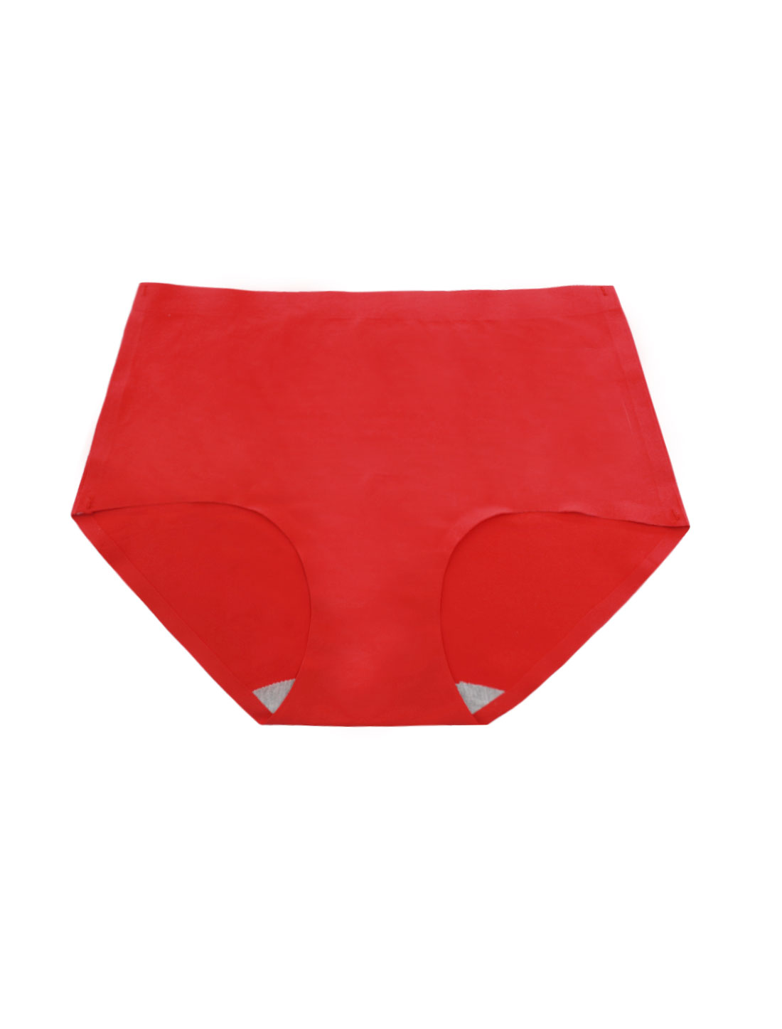Women Mid Rise Elastic Waist Seamless Stretchy Panty Red XS