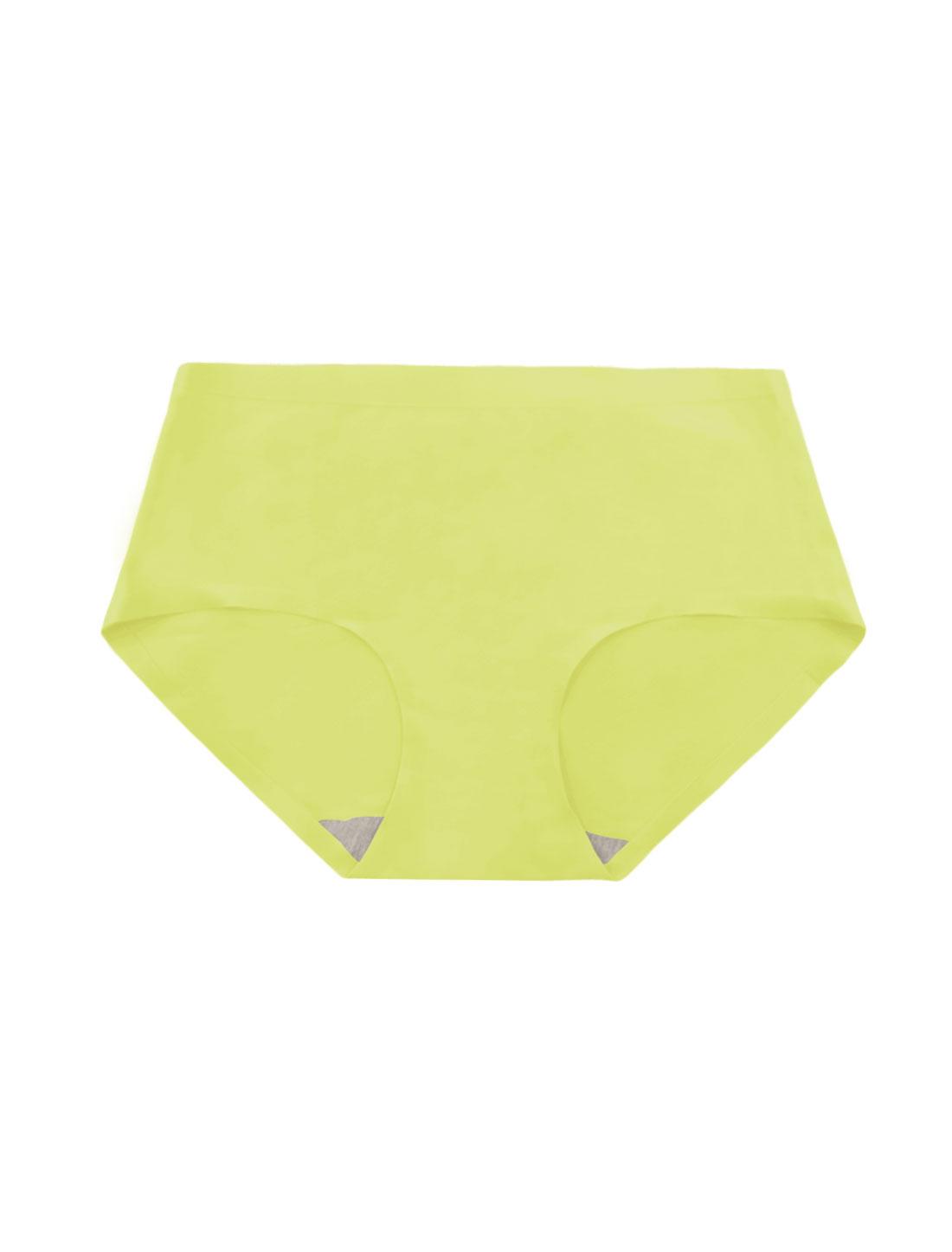 Women Mid Rise Elastic Waist Seamless Stretchy Panty Light Moss XS