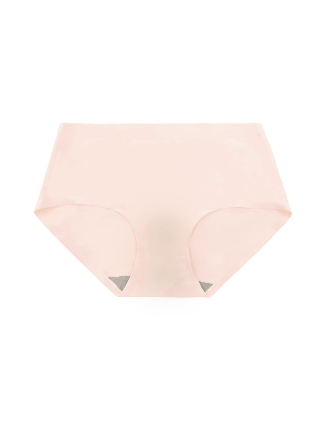 Women Mid Rise Elastic Waist Seamless Stretchy Panty Light Pink XS