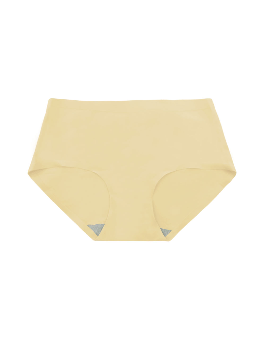 Women Mid Rise Elastic Waist Seamless Stretchy Panty Beige XS