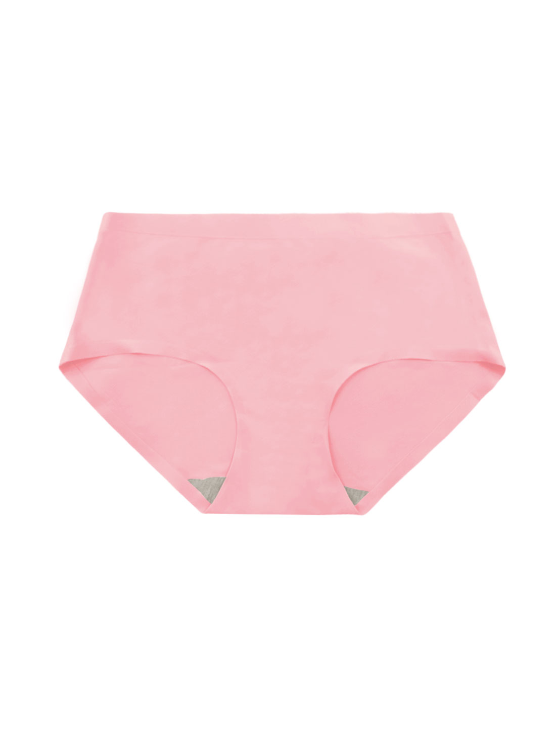 Women Mid Rise Elastic Waist Seamless Stretchy Panty Hot Pink XS