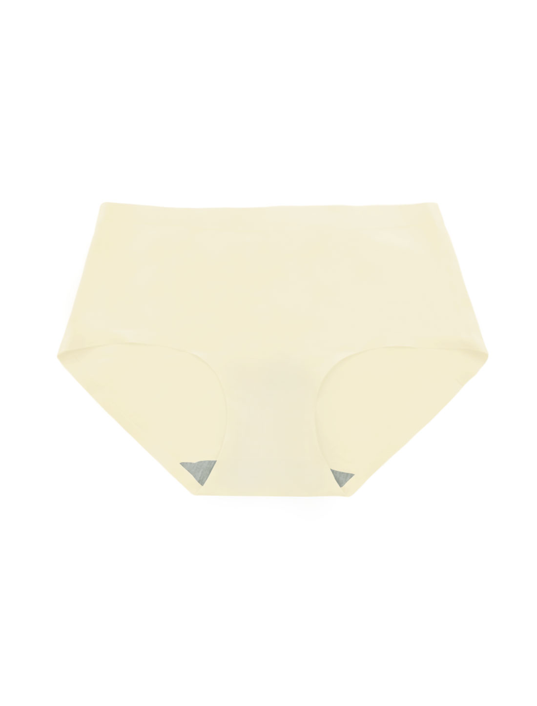 Women Mid Rise Elastic Waist Seamless Stretchy Panty Champagne XS