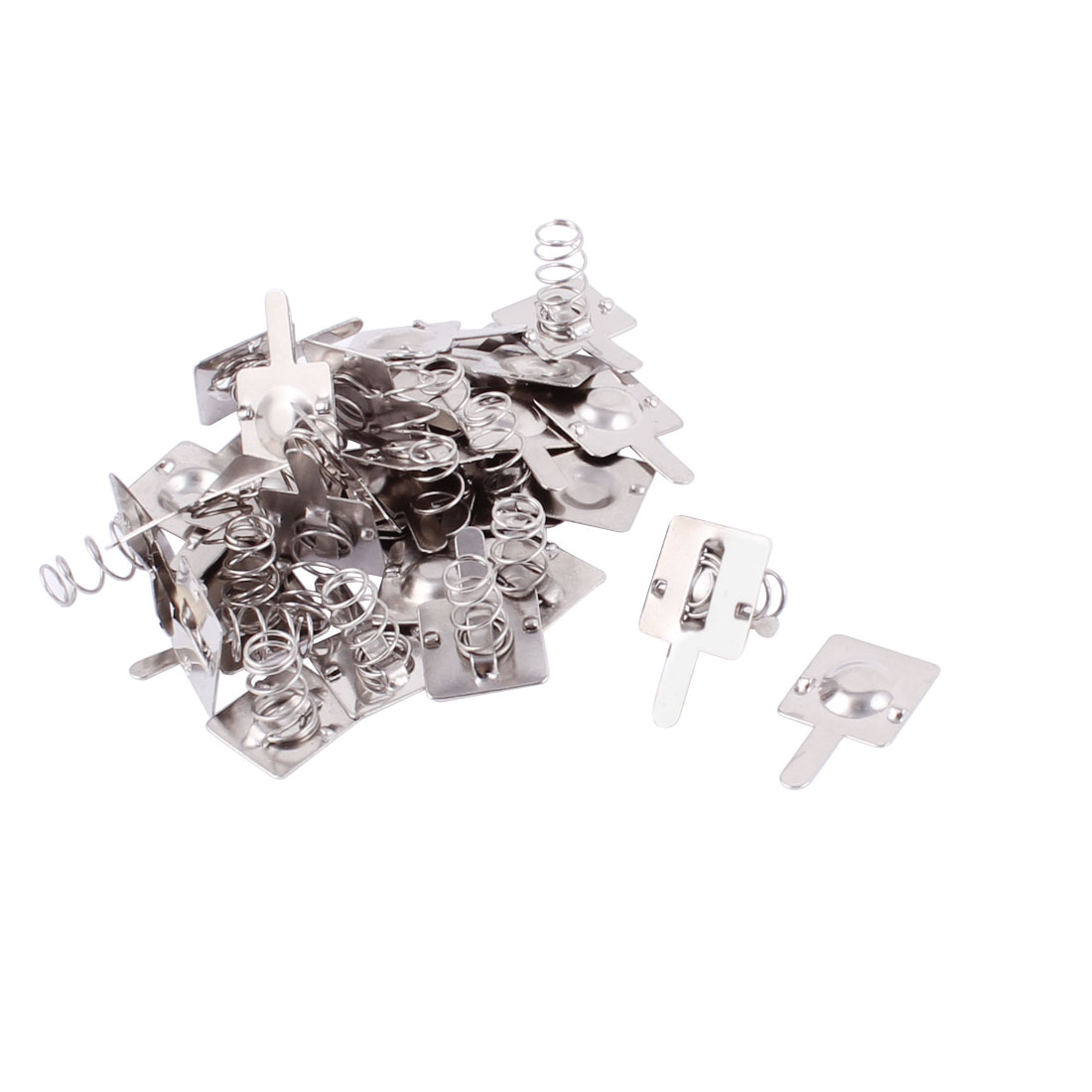 Silver Tone Metal AA Battery Connecting Spring Lamination Plate 18pcs