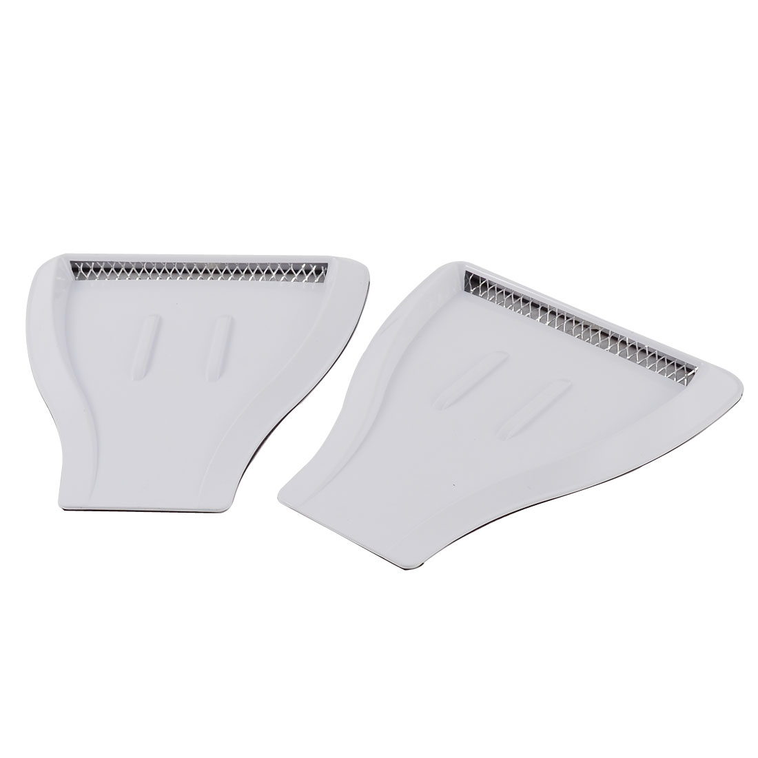 2 Pcs White Shovel Shaped Auto Air Flow Decorative Sticker