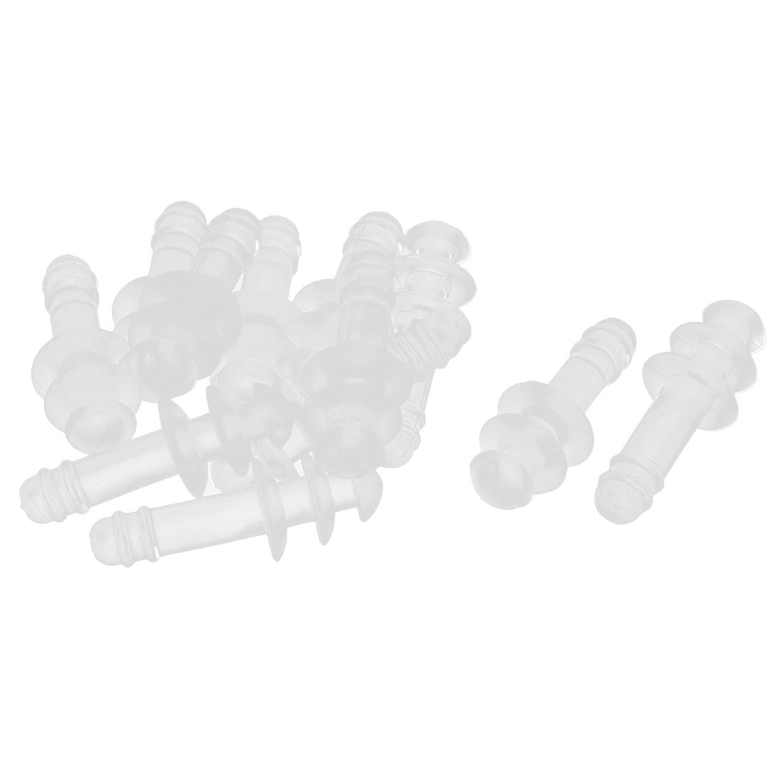 6 Pairs Clear Plastic Water Sports Swim Aqua Sphere Earplugs Protector