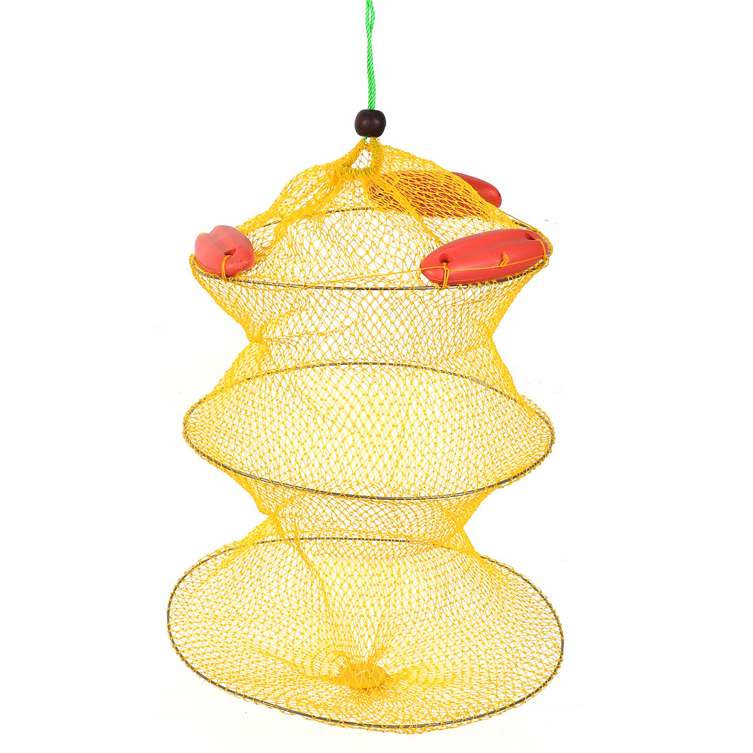 Lobster Crab Crawfish Shrimp Cage Fishing Keep Net Yellow Red