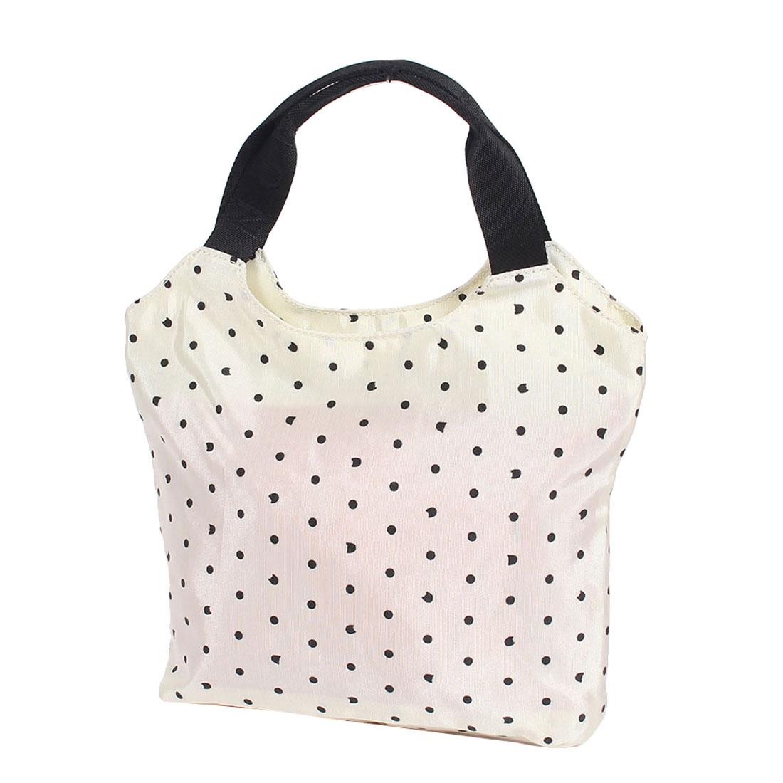 Dot Pattern Shopping Travelling Single Shoulder Bag Tote Handbag